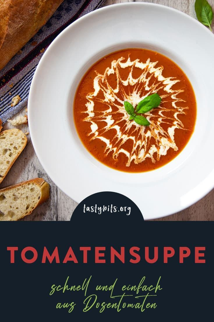 Schnelle Tomatensuppe Mit Basilikum Sahne Rezept Tomaten