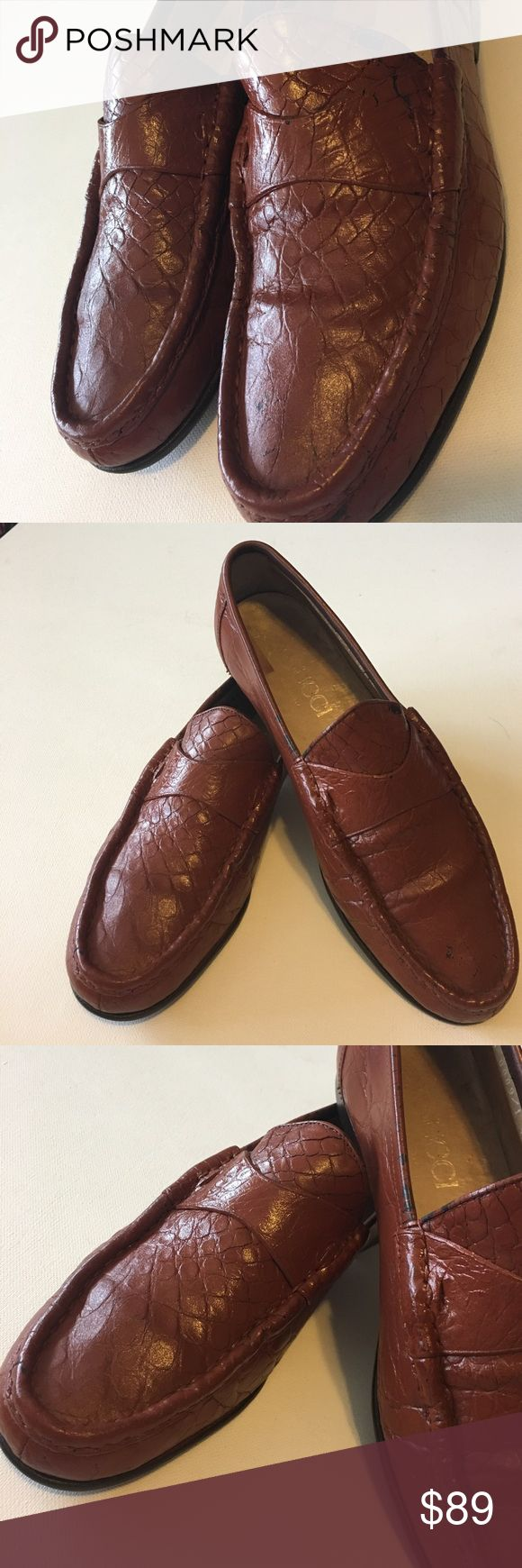 """Authentic Gucci Men's Loafers EU 40.5 Stylish men's loafers. Overall in good condition, lots of life left in these shoes. Please look at all pics, examine the pictures. Size is 40 1/2 inside shoe, bottom says 9/10 jumbo. US size 6, measures 10.75"""" long. I did a lot of research on authenticity. The eight digit style code should be indicated next to the size inside the shoe, (it is) also the Gucci emblem should be on the bottom of the shoe next to the sizing and it should state made in Italy…"""