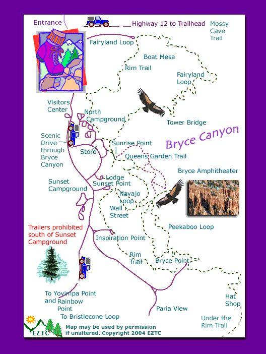 Bryce Canyon Map