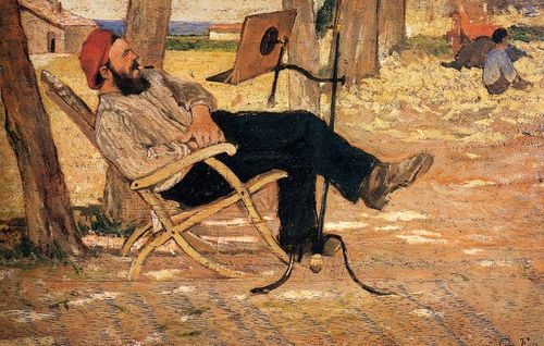 Fattori, Giovanni (1825-1908) - Portrait of Diego Martelli at Castiglioncello