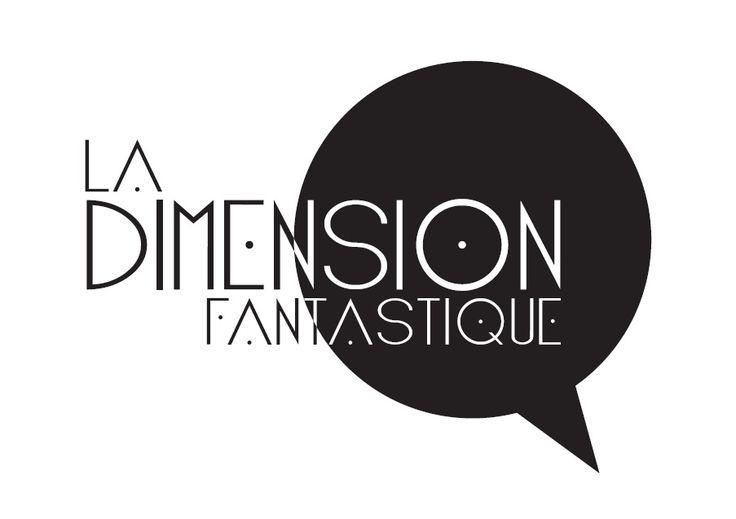 La dimension fantastique, librairie spécialisée. Logo par Sandrine Gendek