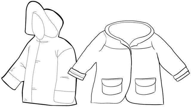 Winter Jacket For Kids Coloring Page Idea Coloring Pages For Kids Coloring For Kids Kids Winter Jackets