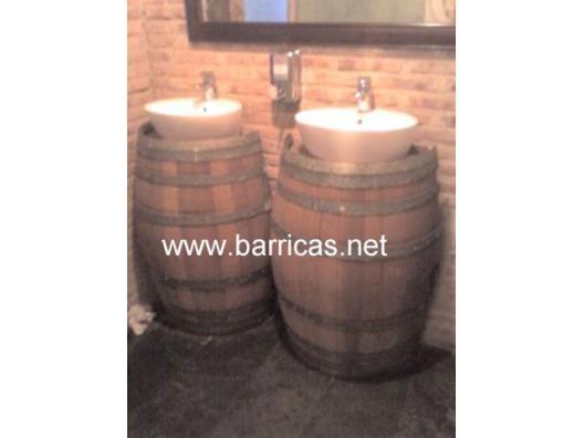 Lavabo medio barril. 1