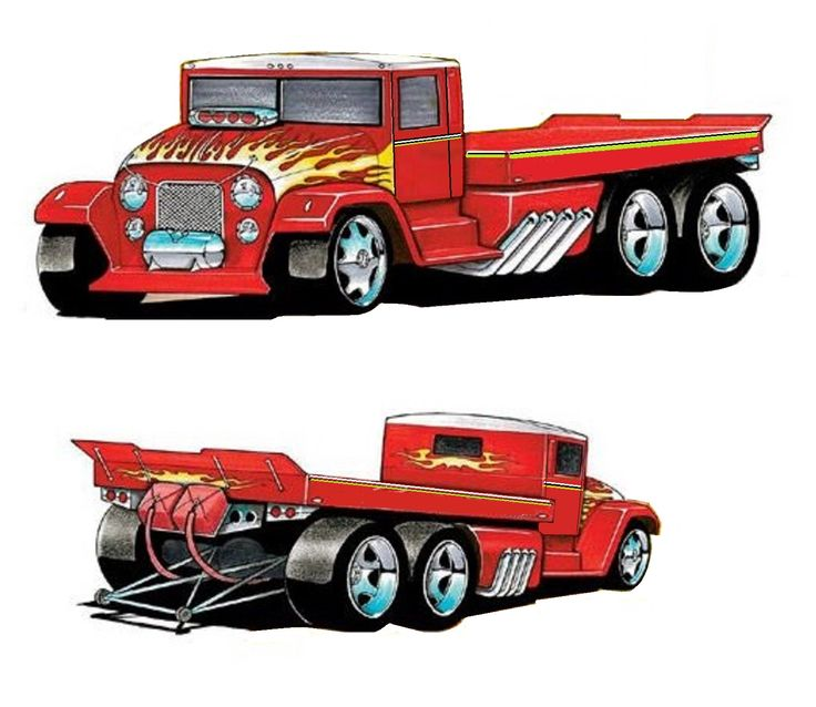 1000+ Images About Hot Rod Semis Cartons Art And Drawings