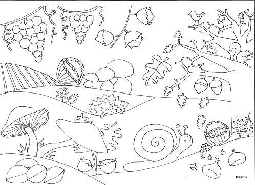 Coloriage automne gratuit copie herfst kleurplaten pinterest autumn school and mandalas - Coloriage paysage automne ...