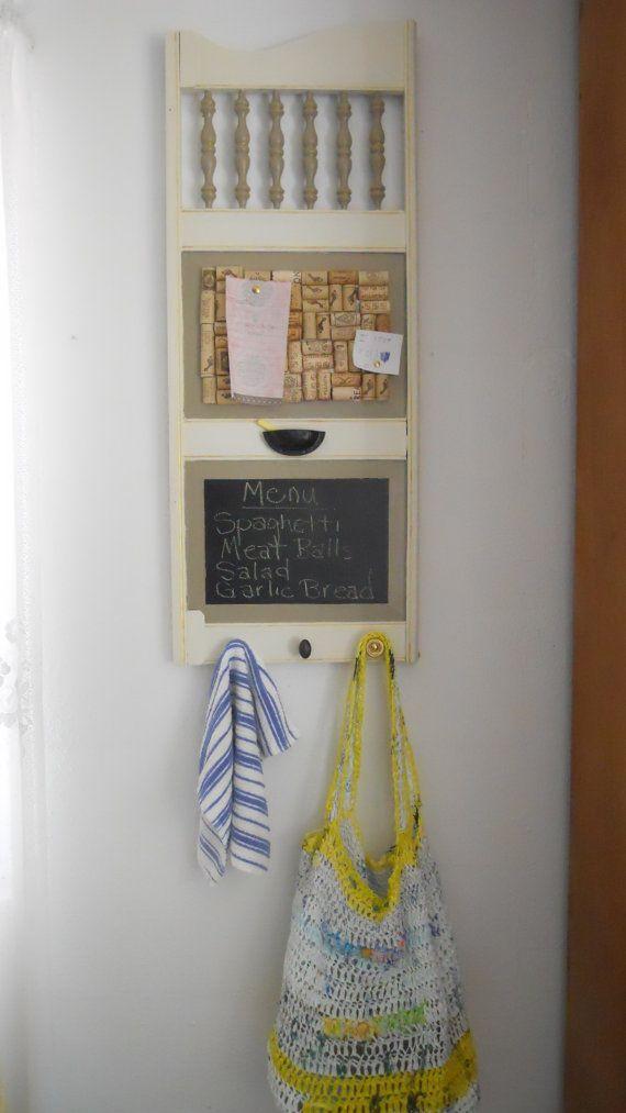 Saloon Door Style Memo Board/Chalkboard Kitchen Organizer via Etsy