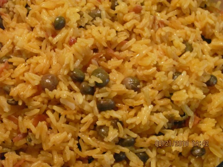 Haitian Pigeon Peas and Rice Recipe - haitianfoodrecipe.com