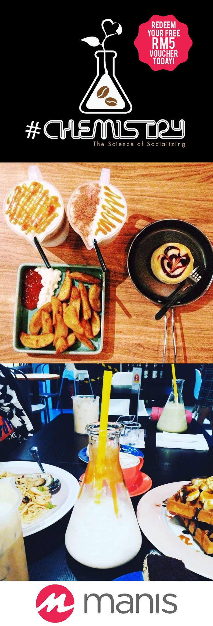 Looking for a cafe with a unique concept? Or the one that specialized in coffee and baked goods?  Look no further, you can get everything with Chemistry Café+Lab!  We have talked about them and we are going to talk about them again!  They are that good, that's why!  This time, the one-of-a-kind cafe is onboard with Manis with Cash Voucher, which means you can get RM 5 off for every spend of RM 20 in a single receipt!  Belgian waffles and coffee, anyone?  This is why, life is sweeter with…