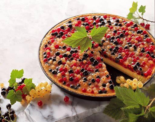 Rybízový koláč s marcipánem