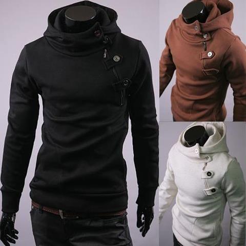 Fashion Men Slim Fit Casual Hoodie