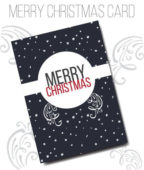 Christmas Card with snow