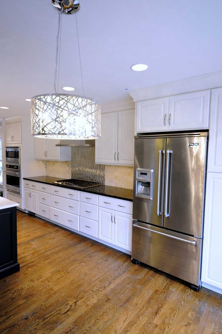 Pinterest White Kitchen Black Appliances