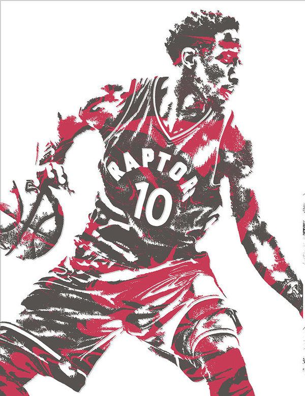 Demar Derozan Toronto Raptors Pixel Art 6 Art Print by Joe Hamilton.  All prints are professionally printed, packaged, and shipped within 3 - 4 business days. Choose from multiple sizes and hundreds of frame and mat options.