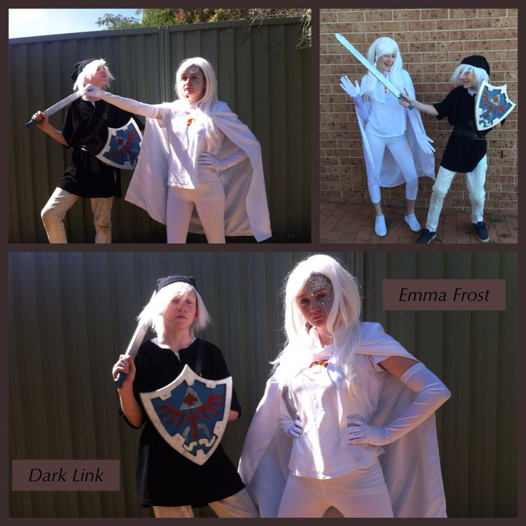 Emma Frost from X-Men and Dark Link from Zelda. Kids cosplay day.