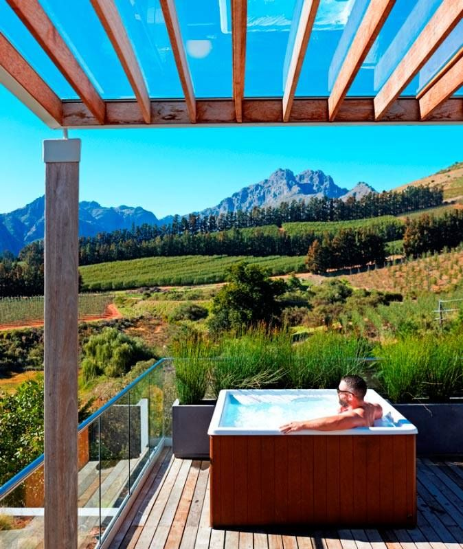 A private Jacuzzi on the deck of our superior room. #privacy #jacuzzi #Cloudsestate http://cloudsestate.com/gallery.html