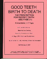 Good Teeth Birth to Death book cover