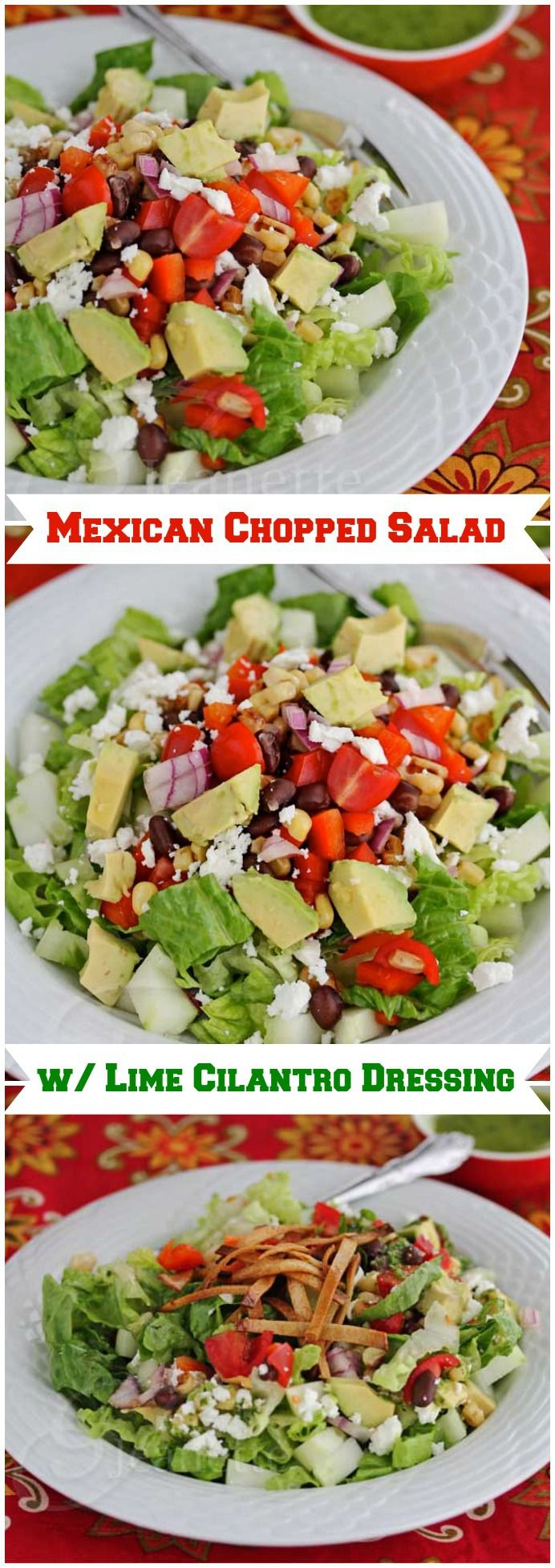Mexican Chopped Salad With Lime Cilantro Dressing Recipe