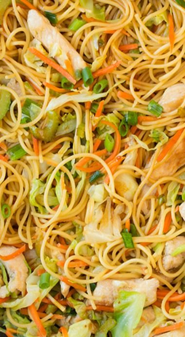 how to make chicken chow mein with cabbage