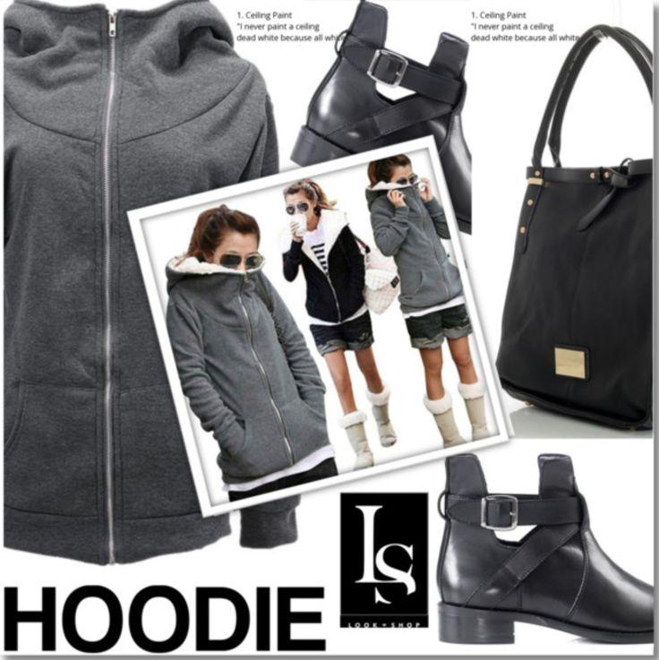 A Great Hoodie to have in you Wardrobe! #hoodie #verostilobag #Gaiaankleboots #sweaters  Shop the look here: https://goo.gl/EkNAuj