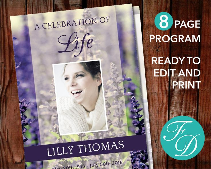 197 best 8 Page Funeral Program Templates images on Pinterest - memorial service template word