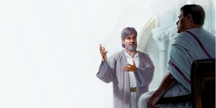 José de Arimatea hablando con Poncio Pilato