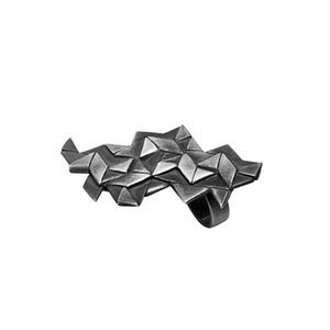 Image of Origami Ring, Oxidised silver