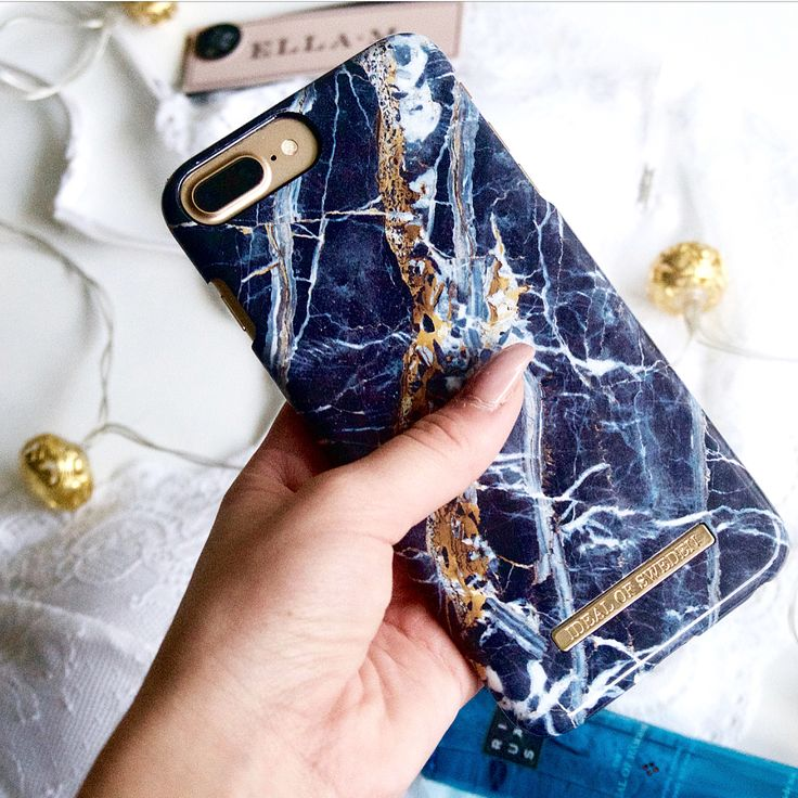 iDeal Of Sweden Fashion Case 'Midnight Blue Marble' pic by: @aliciaahedberg #idealofsweden #phonecase #iphone #blue #marble #inspo #details