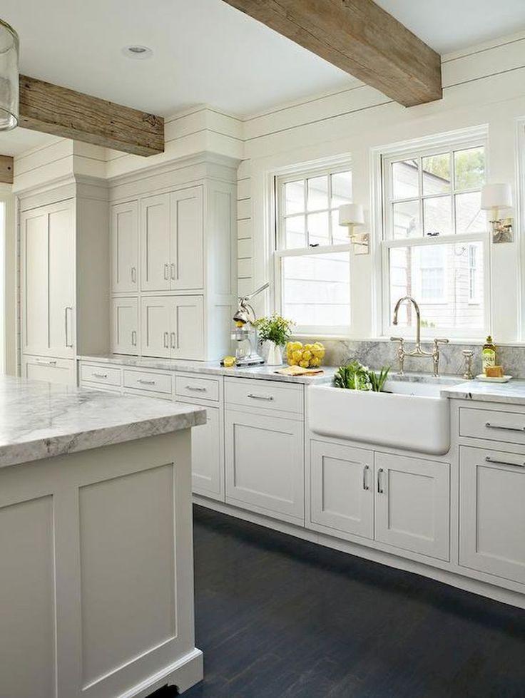 gorgeous white farmhouse kitchen designs ideas 13