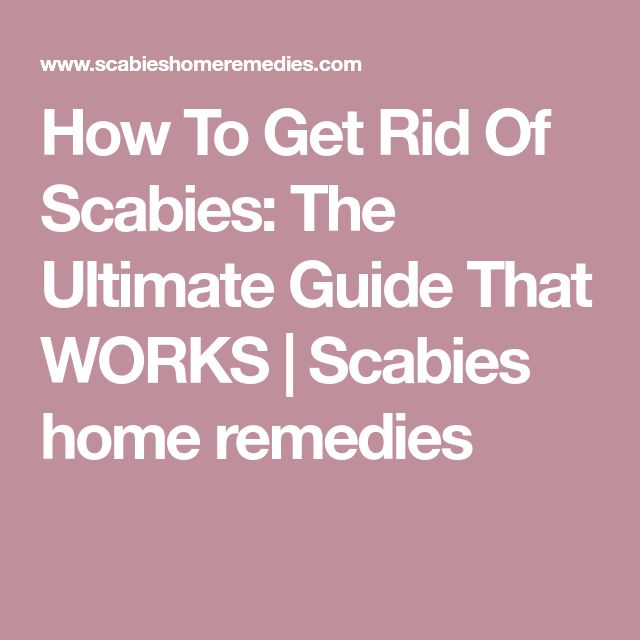 How To Get Rid Of Scabies: The Ultimate Guide That WORKS | Scabies home remedies