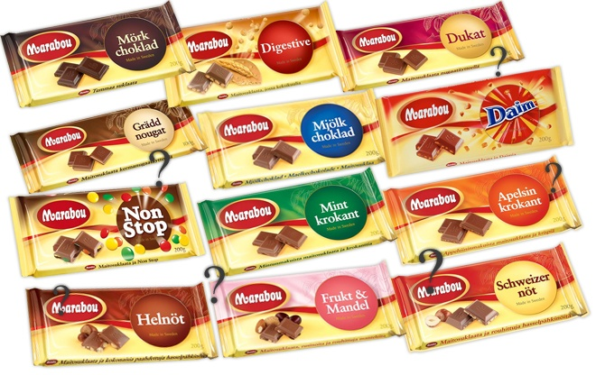 """During a long roadtrip through Sweden and Norway in 2008, we tried several flavors of the Swedish Marabou chocolate. I remember I had the """"mint krokant"""" one, which was really good. We do have Marabou chocolate in Germany, too, but only two or three flavors."""
