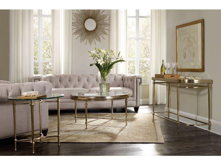 Hooker Furniture Living Room Highland Park Round Cocktail Table 5443 80111