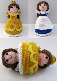 FREE Beauty and the Beast amigurumi pattern (Crochet) - Pinned by intheloopcrafts.blogspot.co.uk
