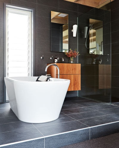 Love the charcoal tiles