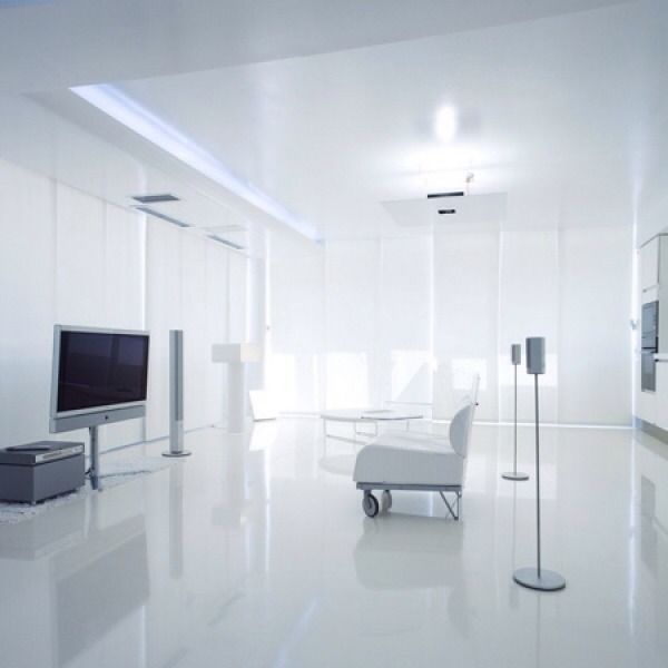 Super Gloss White Laminate Flooring Sylent System Made In