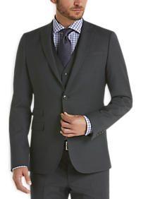 Egara Gray Extreme Slim Fit Vested Suit