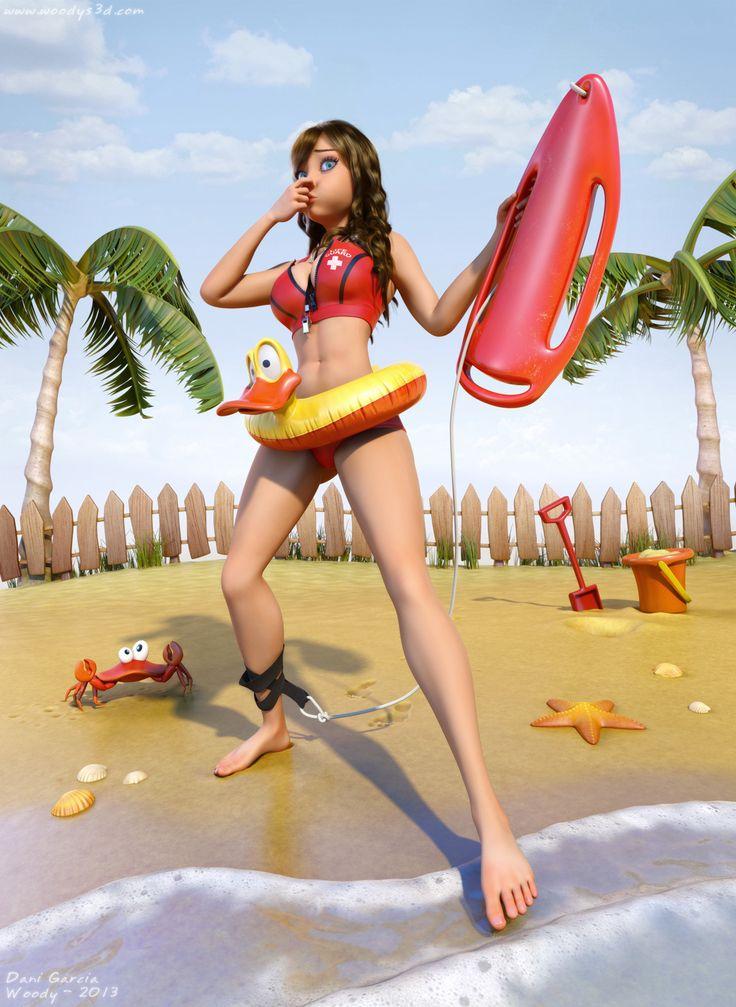 Personagem 3D do artista espanhol Dani Garcia com 3ds Max