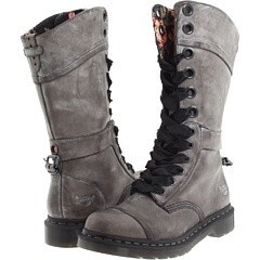 Doc Martins, got these ones with union Jack lining and extra pair of brown ribbon laces, funky in a muddled Brown