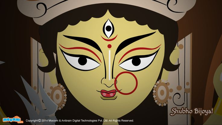 Navratri Wallpaper – 7 – Download this wallpaper and other #Navratri wallpapers for free. Browse through our collection of wallpapers themed around other important #festivals. For more cool #wallpaperforkids, visit http://mocomi.com/fun/wallpapers/festival/