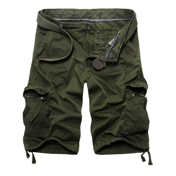 Casual Solid Color Loose Fit Cargo Shorts For Men #CLICK! #clothing, #shoes, #jewelry, #women, #men, #hats, #watches