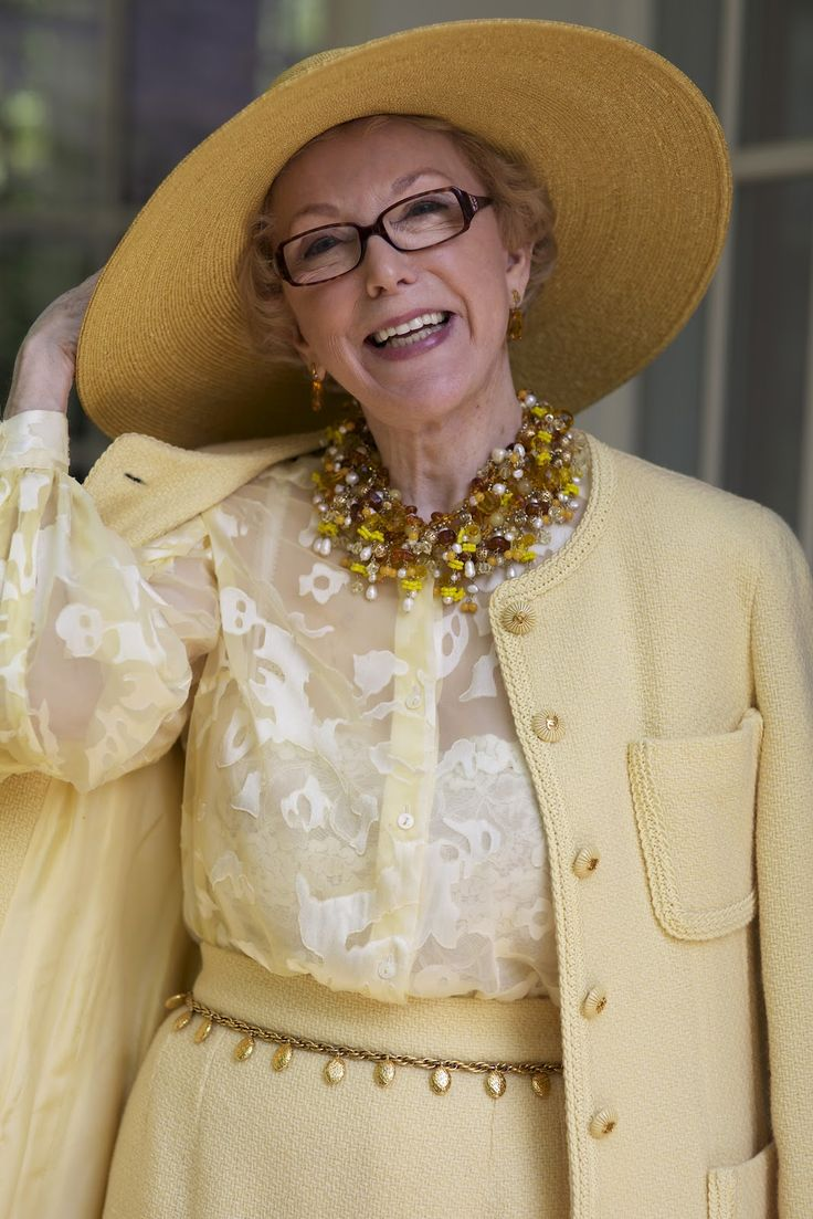 ADVANCED STYLE: Yellow Vintage Chanel Suit