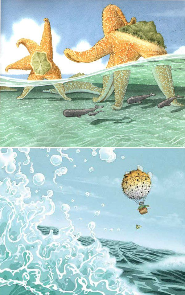 flotsam by David weisner, children's book illustration - water