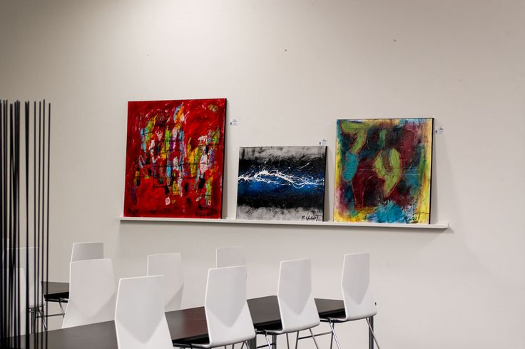 Photo from my exhibition at EXHAUSTO in August 2015  Art by Lønfeldt - Art original acrylic abstract paintings