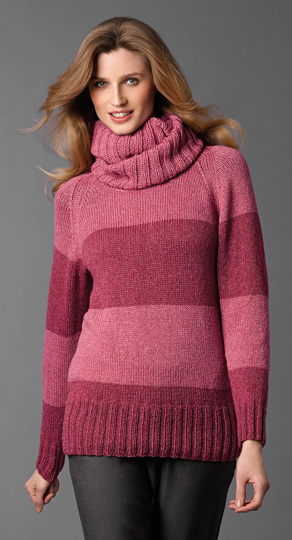 Breien. Deze, zeer zachte, trui is gemaakt met het garen Katia Merino-Silk en keus uit 16 kleuren.  Dit is maar een voorbeeld. Maak deze trui in de kleuren die bij u past. Katia CONCEPT 1 pag 18a.jpg