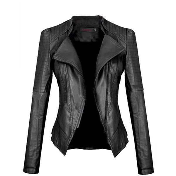 Cheap Black Leather Jackets For Women vT3ri2