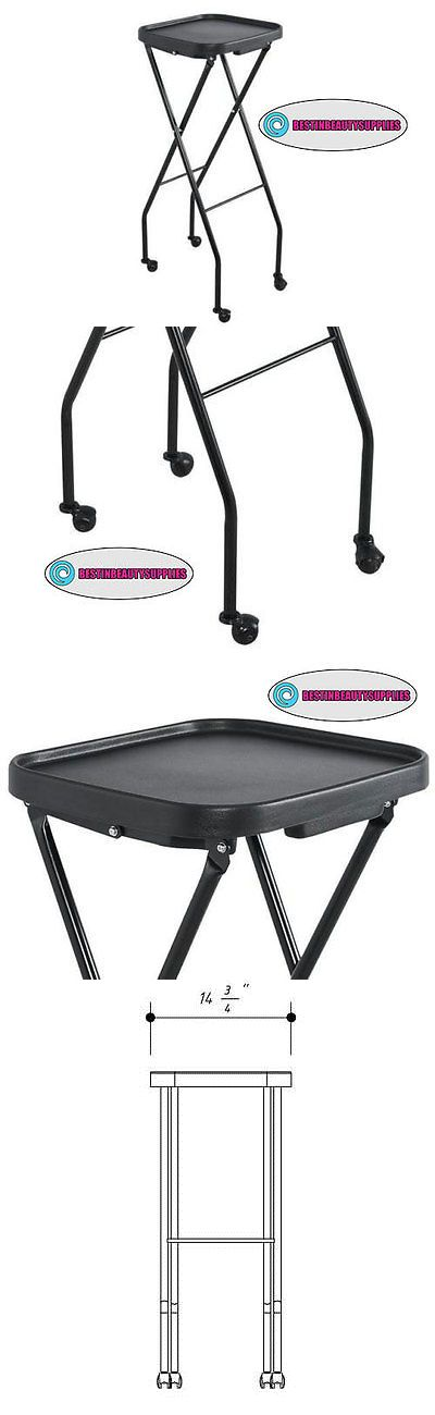 Other Salon and Spa Equipment: Black Metal Support Multi Use Foldable Utility Tray BUY IT NOW ONLY: $69.99