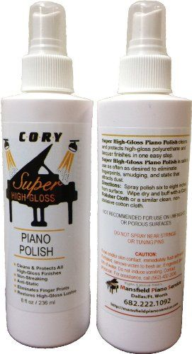 Super High Gloss Piano Polish 8 oz by Cory, Distributed by A Fully Authorized Cory Products Dealer  Buy from the only Authorized Dealer of Cory Care Products on Amazon  One Step process - Use as Often as Desired  Specially Formulated  Helps prevent fading and surface deterioration  You are getting 1 bottle of product - Not 2. Photo shows 2 bottles so you can see the label on the back.