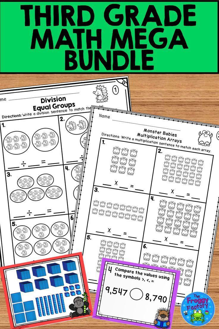 Third Grade Math Mega Bundle 3rd Grade Math Third Grade Math Math Resources [ 1104 x 736 Pixel ]