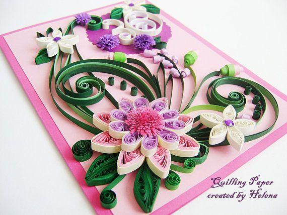 Quilling Birthday Card  30th Birthday Card by MadeByHelenka