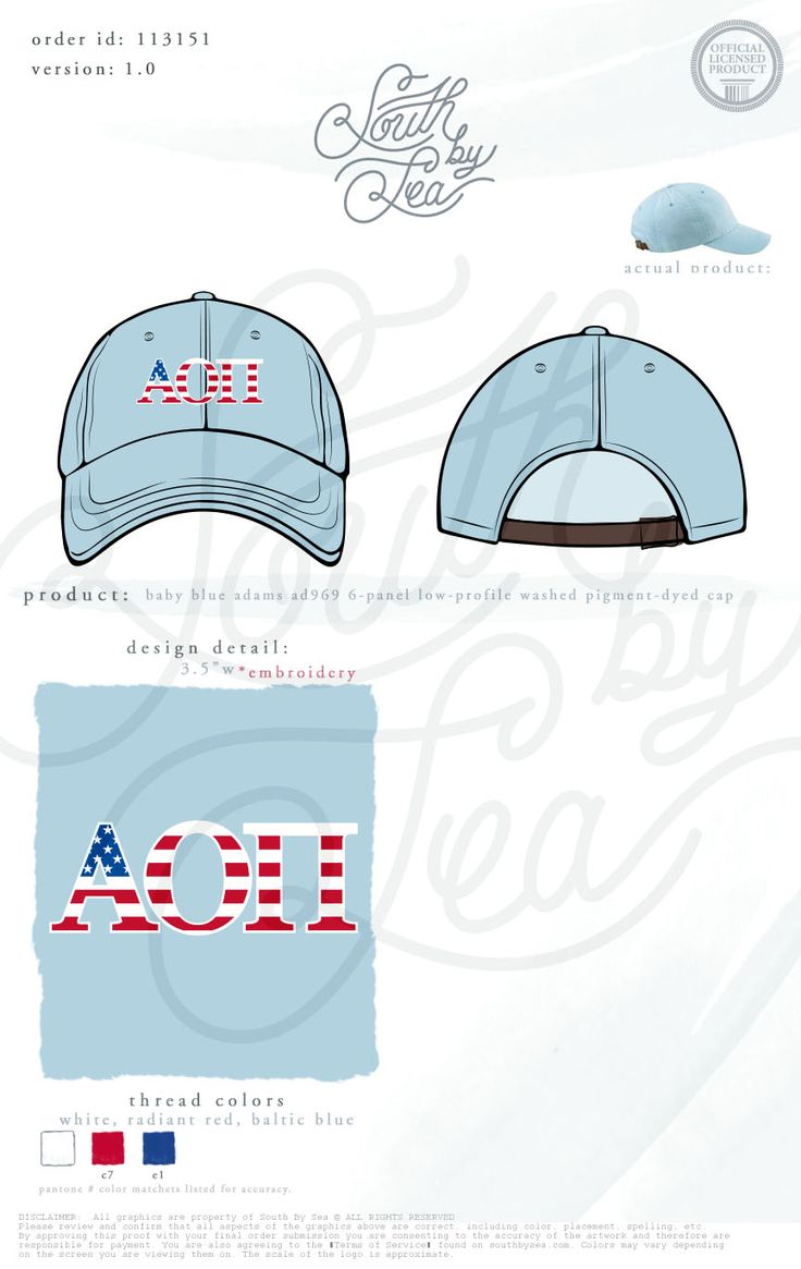 Alpha Omicron Pi | AOII | American Flag Design | Red White and Blue | Patriotic | Fourth of July | Embroidered Cap | Sorority Hat | Sorority Accessories | South by Sea | Greek Tee Shirts | Greek Tank Tops | Custom Apparel Design | Custom Greek Apparel | Sorority Tee Shirts | Sorority Tanks | Sorority Shirt Designs