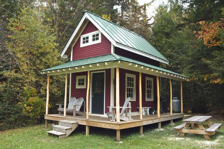 10 x 16 shed with loft little cabin in the woods pinterest for Shed with porch and loft